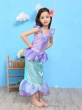 Girls Princess Ariel Little Mermaid Costume Outfit Dress Up Party Photograph