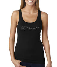 Bridesmaid Rhinestone Marrage Bachelorette Party Wedding Ladies Tank Top S-2XL