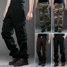 Fashion Men's Cargo Army Military Combat Camo Work Trousers Workwear Long Pants