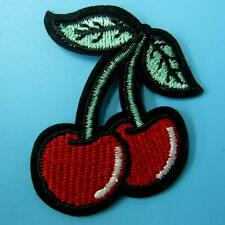 Cherry Fruit Food Iron Sew on Embroidered Patch Badge Transfer Kids Baby Clothes