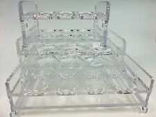 Transparent acrylic glass frame KTV hotel nightclub hole overlap beer cup holder