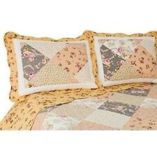 NEW Twin Full Queen King 3 pc Yellow Patchwork Reversible Quilt Coverlet Bed Set