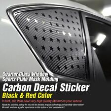 Quarter Glass Window Carbon Fiber Decal Sheets for HYUNDAI 2009-16 Genesis Coupe