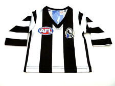 AFL COLLINGWOOD MAGPIES BABY/TODDLERS FOOTY JUMPER/GUERNSEY - BRAND NEW