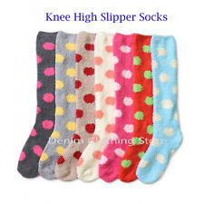 Women's Winter Socks Cozy Fuzzy Dots Slipper Long Fleece Knee High Wholesale Lot