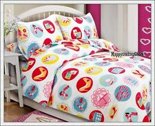 White Pink Red Yellow Beauty Design * Single Double Queen Quilt Doona Cover Set
