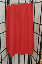 NWT FLAX Bold Panel Skirt in Red hanky weight linen size 1G or 2G