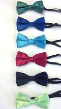 Infant/Toddler Boy's Satin Bow Ties w/Elastic Strap - Choose One of Six Colors