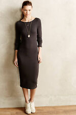 Anthropologie Oana Sweaterknit Pencil Dress M, Form Fitting Gray Midi By Charli