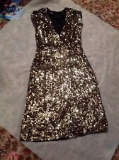 Fab Sequin Dress!! Stunning ,black And Gold.