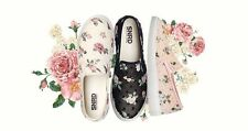 New SNRD SN138 Floral Fabric Women Fahion Slip on Sneakers Flat Shoes Loafer