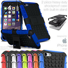 HEAVY DUTY TOUGH SHOCKPROOF CASE COVER WITH STAND FOR APPLE iPHONE 100% UK STOCK