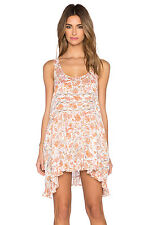 NWT Free People Lace and Voile printed Trapeze Slip dress $88 ivory combo