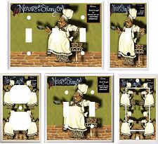 FAT CHEF NEVER TRUST A SKINNY CHEF LIGHT SWITCH COVER PLATE OR OUTLET V871