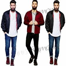 New Mens Boys Retro Vintag Harrington Jacket Classic Zip Up Bomber Summer Coat