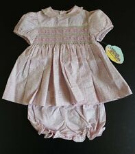 NWT Carriage Boutiques Gorgeous Smocked Dress Sets 3 Months  Twins  Reborn Dolls