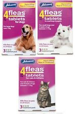 Johnsons 4fleas tablets for dogs puppies cats kittens