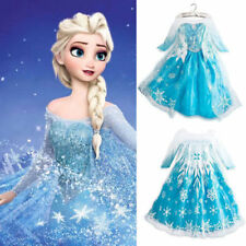 Disney Frozen Elsa Queen Princess  Girl Cosplay Costume Party Formal Dress