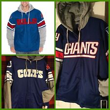 NFL Indianapolis Colts Jersey Jacket NY Giants Buffalo Bills Hoodie Mens Size M