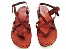 Strappy Leather Jesus Sandals Men Women Flip Flops Shoes Thongs Biblical Greek