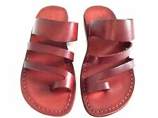 Limited Edition Leather Jesus Sandals Men Women Flip Flops Shoes Thongs Biblical