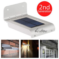16LED Solar Power Motion Sensor Garden Security Lamp Outdoor Waterproof Light IB