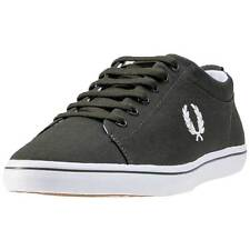 Fred Perry Hallam Mens Trainers Green New Shoes