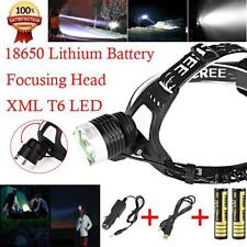 8000Lm CREE XM-L XML T6 LED Headlamp Headlight Head Lamp +18650 Battery+ Charger