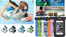 Swimming Waterproof Transparent  Protector Pouch Dry Bag Case F HTC Mobile Phone