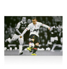 Wayne Rooney Hand Signed Canvas - 57 Yard Goal Autograph