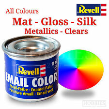 Revell Enamel 14ml Tin Model Paints Full Set Mat Gloss Silk Metallic Clear Paint
