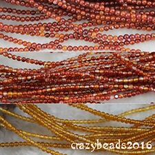 3mm Carnelian Beads Agate Round DIY Spacer Loose Gemstone Beads Strand 15""