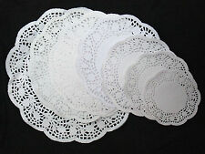 250 x Paper doilies 4.5'' 5.5'' 6.5 7.5 8.5 9.5 12 mat cake crafting decoration