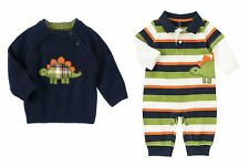 NWT Gymboree Dino Dude Sweater or Romper U-Pick Sz: 0-3, 3-6, 6-12,12-18, months