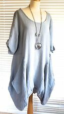 Fab Italian Linen Lagenlook Quirky Tunic Dress – perfect chill out wear! – Ca...