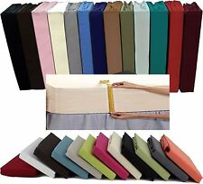 """Brand New Luxury 100% Egyptian Cotton Percale Extra Deep 16"""" Soft Fitted Sheets"""