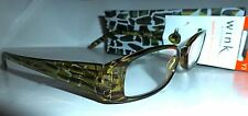 ICU WINK EYEWEAR READING GLASSES w CASE Brown or Green Giraffe 1.75 2.00 2.50