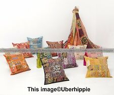 16'' Indian Patchwork Cushion Cover Pillow Case Ethnic Throw Decorative Art