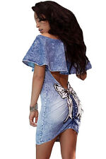 Sexy women club party Sequined Bow Back Ruffle Off Shoulder short  Mini Dress