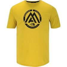 """The North Face """"Mountain Athletics"""" Reaxion T-Shirt Acid Yellow Small Large BNWT"""
