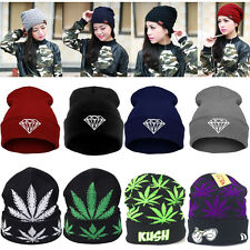 Newest! Men Women Knitting Baggy Beanies Hats Warm Unisex Hip-hop Hat SKI Cap