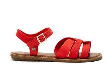 TOMS WOMENS ZOE RED NEW SANDAL BUCKLE SLIP-ON SHOES SIZE 6-9