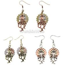 Charms Steampunk Jewelry Wheel Octopus Hook Earring Long Earrring Jewelry