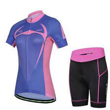 Women's Cycling Clothing Bike Bicycle Cycling Jersey + GEL PAD Shorts Sets
