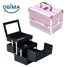 Pro Makeup Aluminum Storage Case Organizer Box Cosmetic Lockable Jewelry Bag US