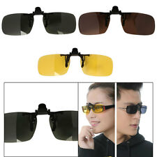 Driving Polarized Day Night Vision UV 400 Clip-on Flip up Sunglasses Glasses