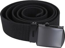 Black Military Nylon Tactical Web Belt w/ Black Buckle