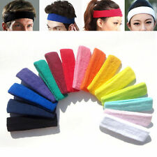 Cotton Women Men Sport SweatBand Headband Sweat Yoga Gym Stretch Head Band Hair