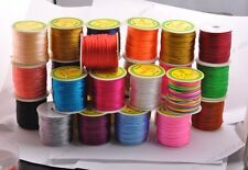 1Roll Chinese Knot Nylon Beading Thread String Jewelry Cords 2MM 26 Colour