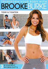 Transform Your Body with Brooke Burke - Tone & Tighten- DVD - New Condition - Br